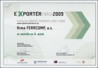 Exportér roku 2009
